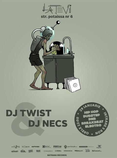DJ Twist & DJ Necs @ La Tevi Pub