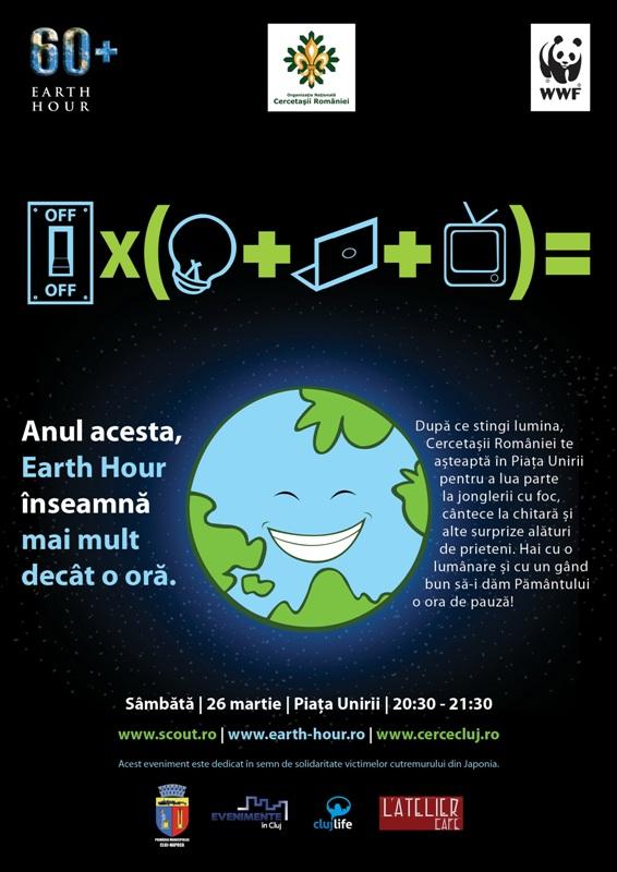 Earth Hour in Piata Unirii