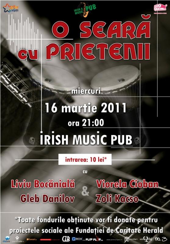 O seara cu prietenii @ Irish & Music Pub