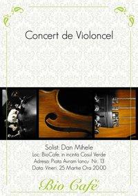 Concert de violoncel @ Bio Cafe
