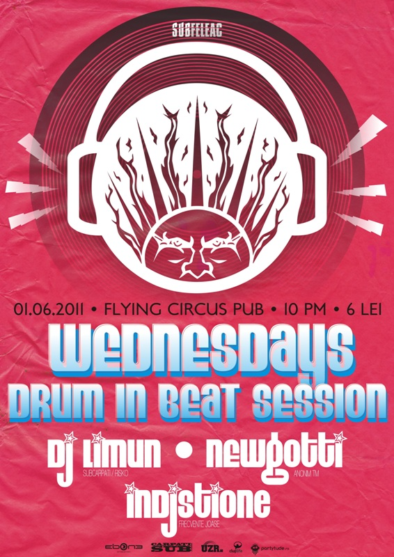Wednesdays drum in beat session @ Flying Circus Pub