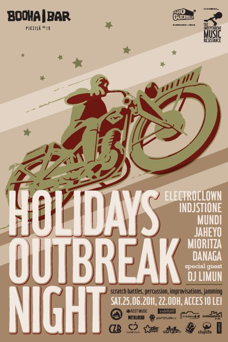 Holidays Outbreak Night @ Booha Bar