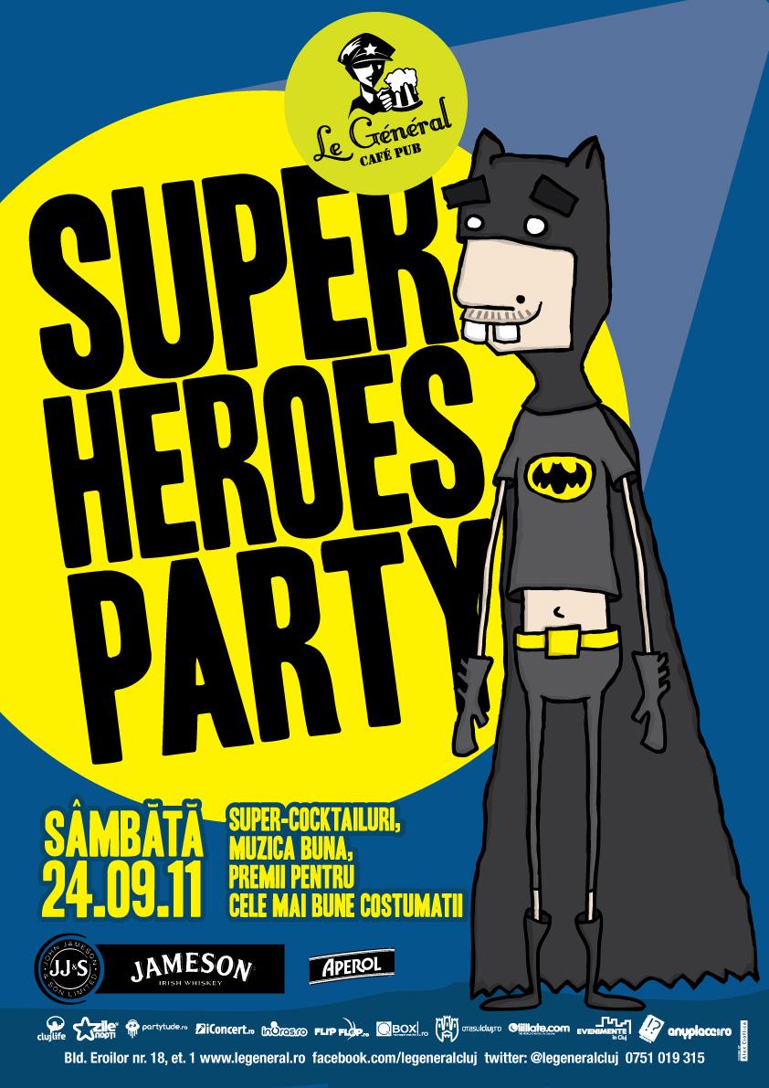 Superheroes Party @ Le General