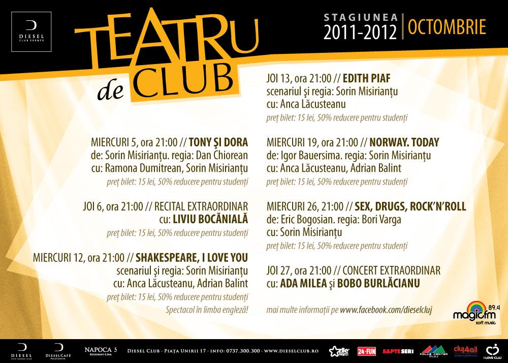 Teatru de club @ Club Diesel