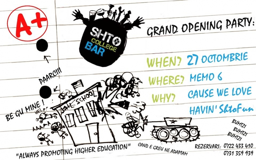 Opening Party @ Shto College Bar