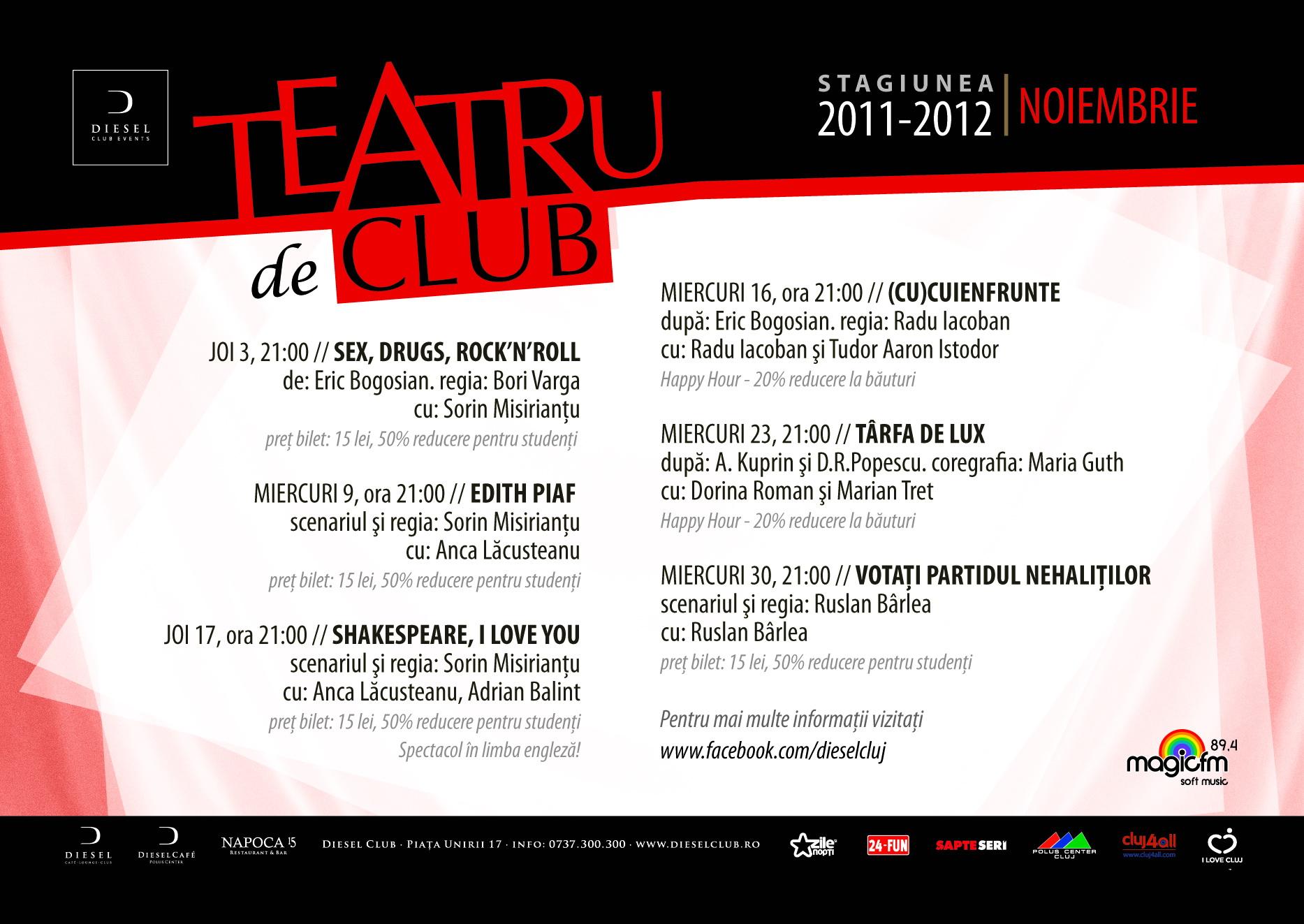 Teatru de Club – Noiembrie 2011