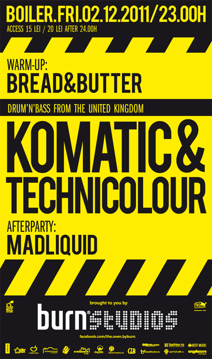 Komatic & Technicolour @ Club Boiler