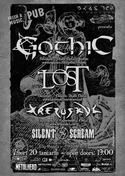 Gothic, L.O.S.T., Krepuskul şi Silent Scream