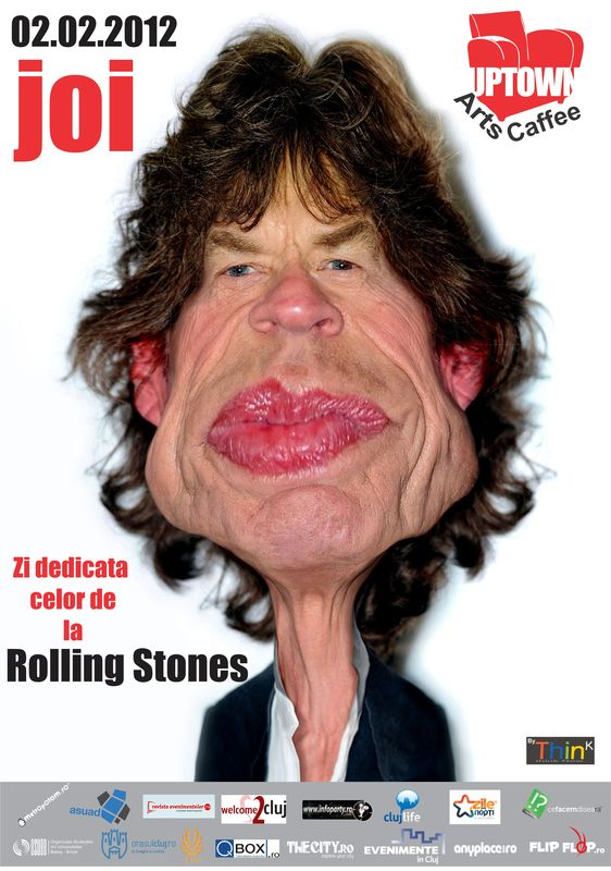 """Ziua """"The Rolling Stones"""" in Uptown Arts Caffee"""