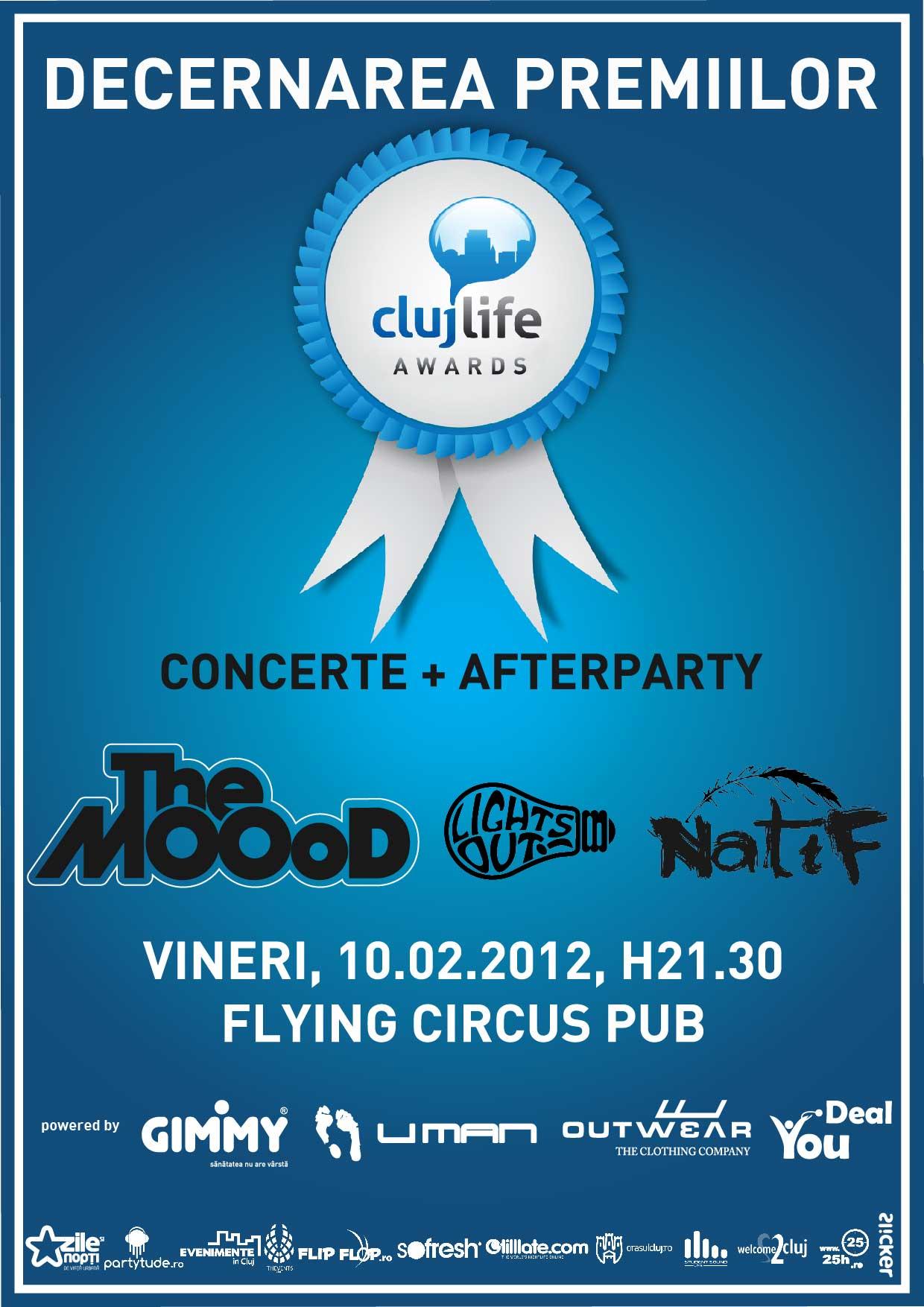 ClujLife Awards – decernarea premiilor @ Flying Circus Pub