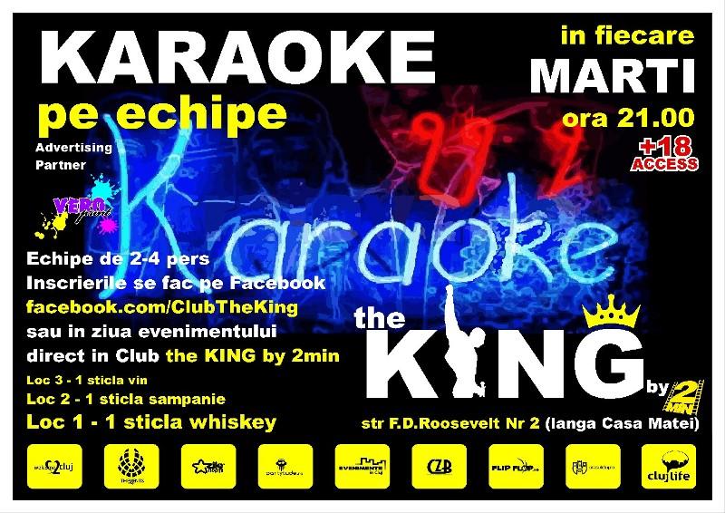 Karaoke pe echipe @ Club The King
