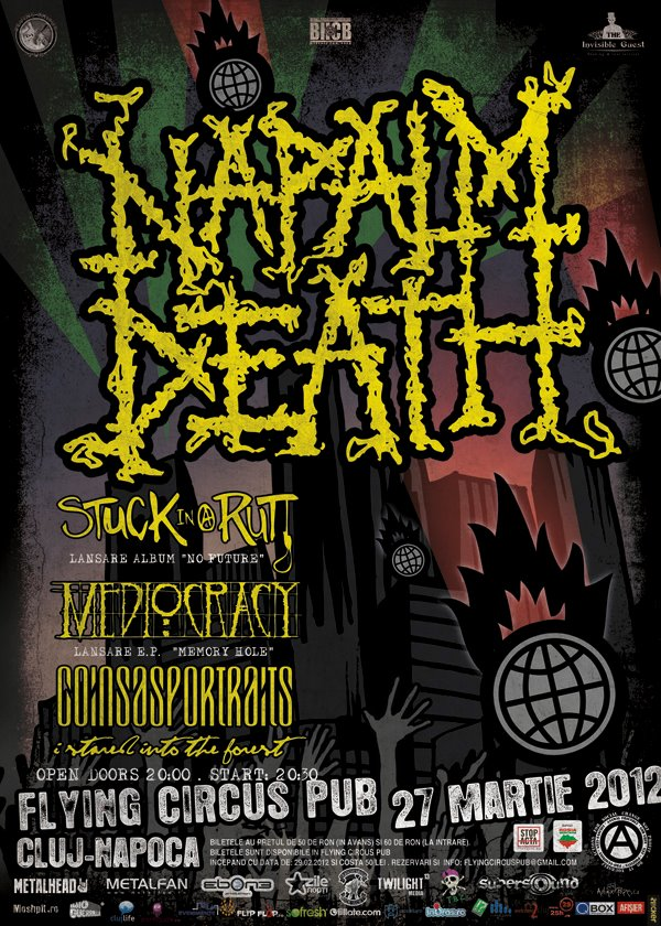 Napalm Death @ Flying Circus Pub