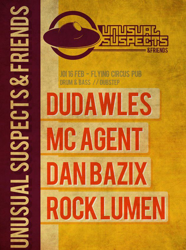 Unusual Suspects & Friends @ Flying Circus Pub