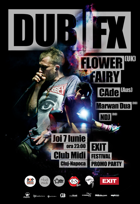 Dub Fx, Flower Fairy & Cade @ Club Midi