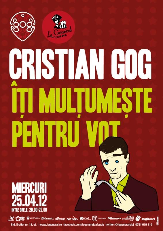 Cristian Gog iti multumeste pentru vot!