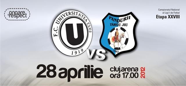 """U"" Cluj – Pandurii Tg.Jiu @ Cluj Arena"