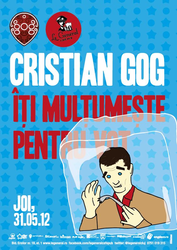 Cristian Gog îți multumește pentru vot!