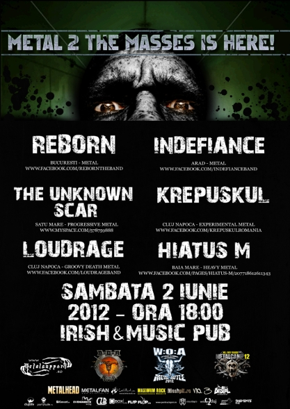 Metal 2 Masses @ Irish & Music Pub