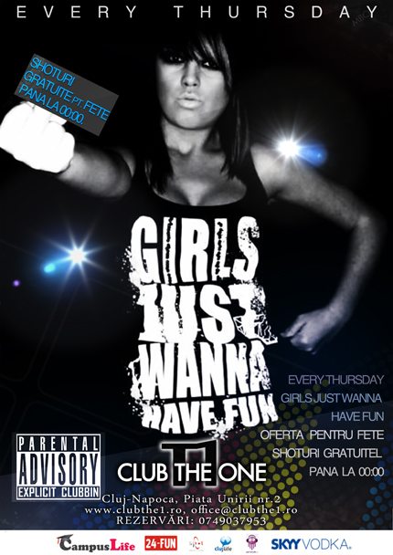 Girls Just Wanna Have Fun @ Club The One
