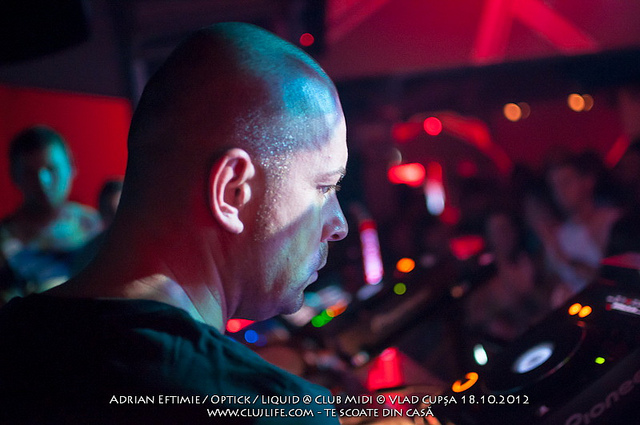 Poze: Adrian Eftimie, Optick, Liquid @ Club Midi