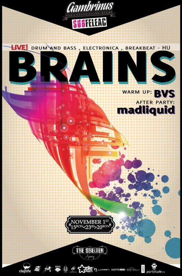 Brains / MadLiquid / BVS @ Gambrinus Pub