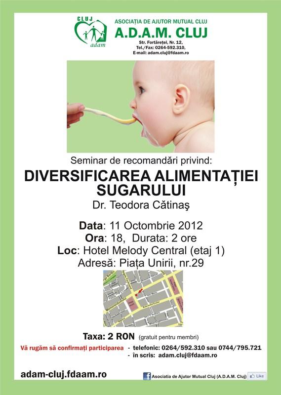 Diversificarea alimentaţiei sugarului