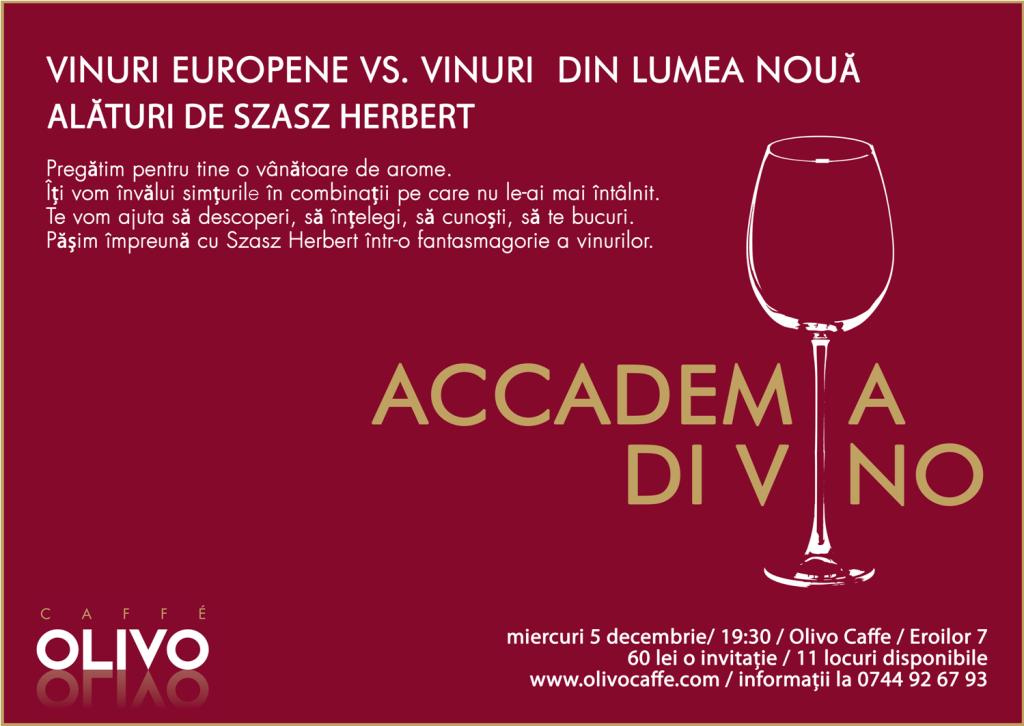 Accademia di Vino @ Olivo Caffe