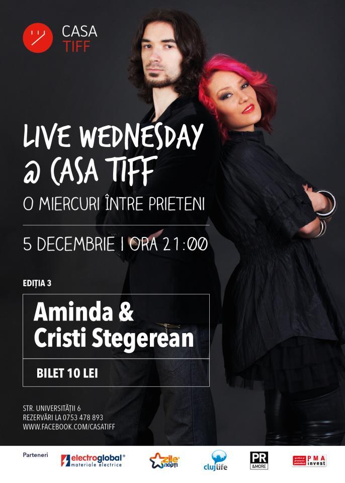 Live Wednesday cu Aminda @ Casa TIFF