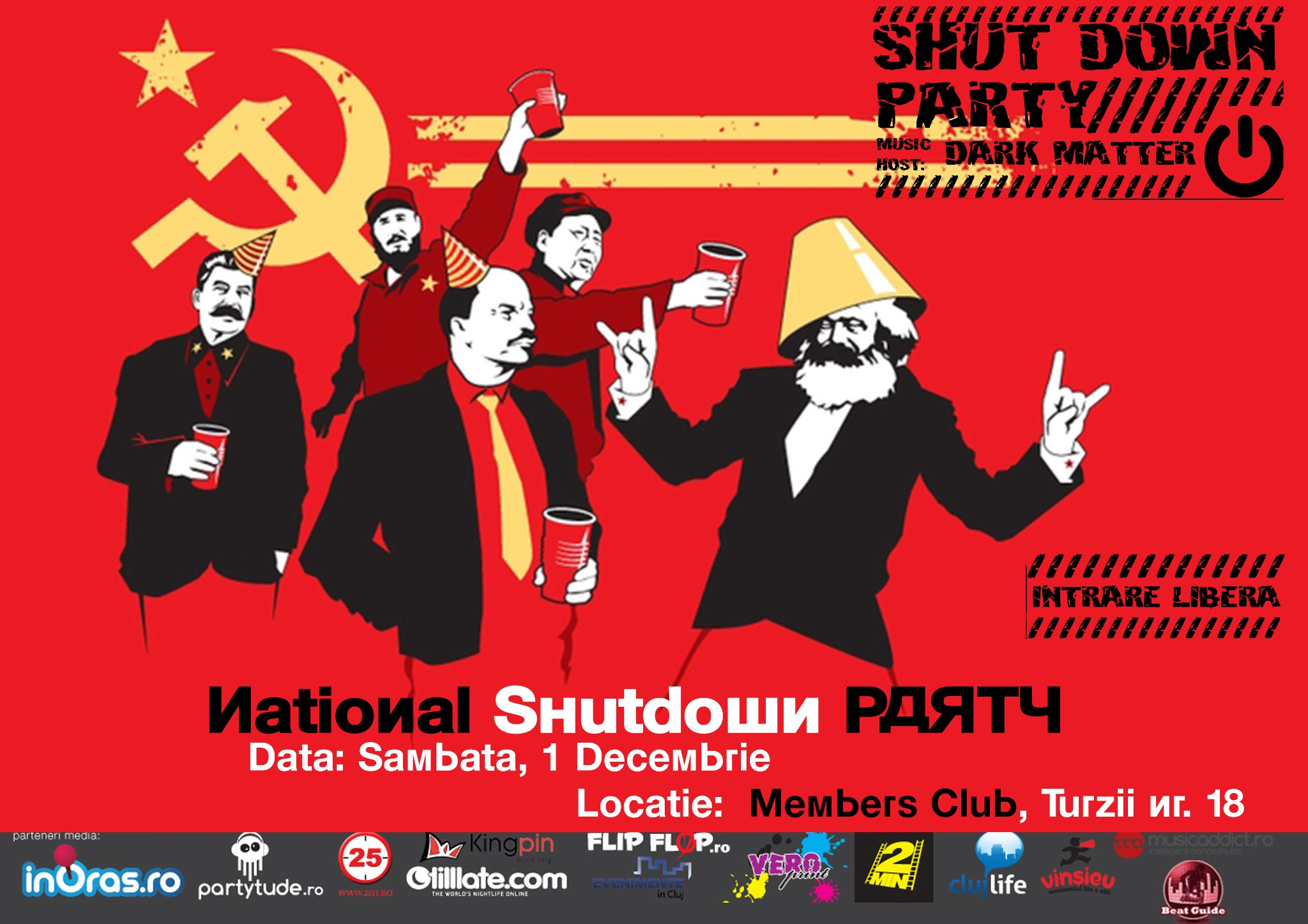 National Shut Down Party @ Members Club