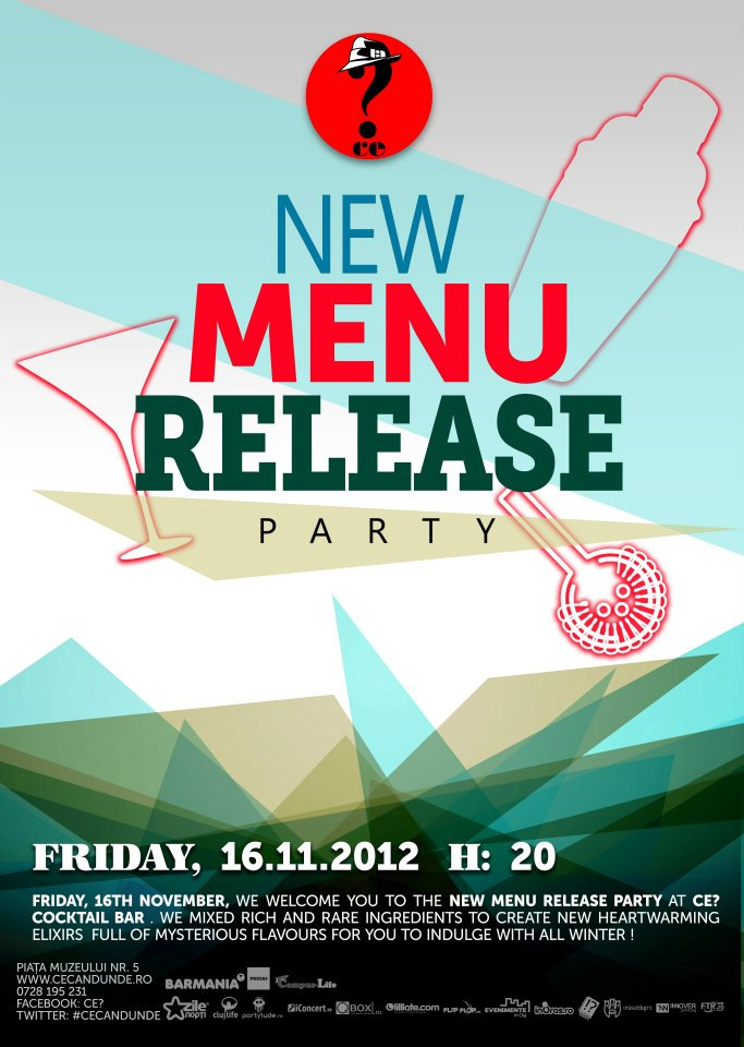 New Menu Release Party @ Ce?