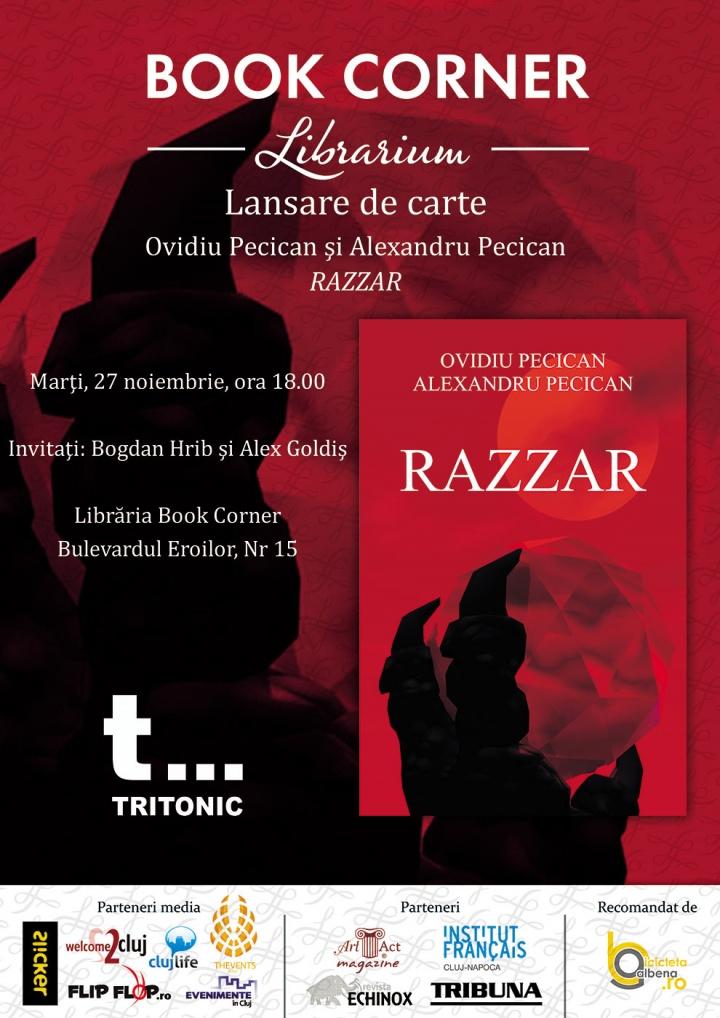 """Lansare de carte """"Razzar"""" de Ovidiu Pecican"""