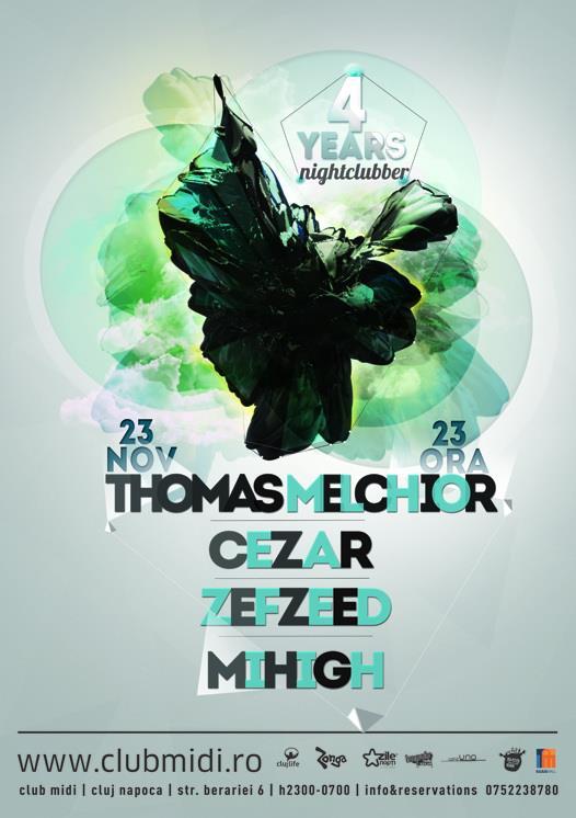 Thomas Melchior / Cezar / Mihigh / Zefzeed @ Club Midi