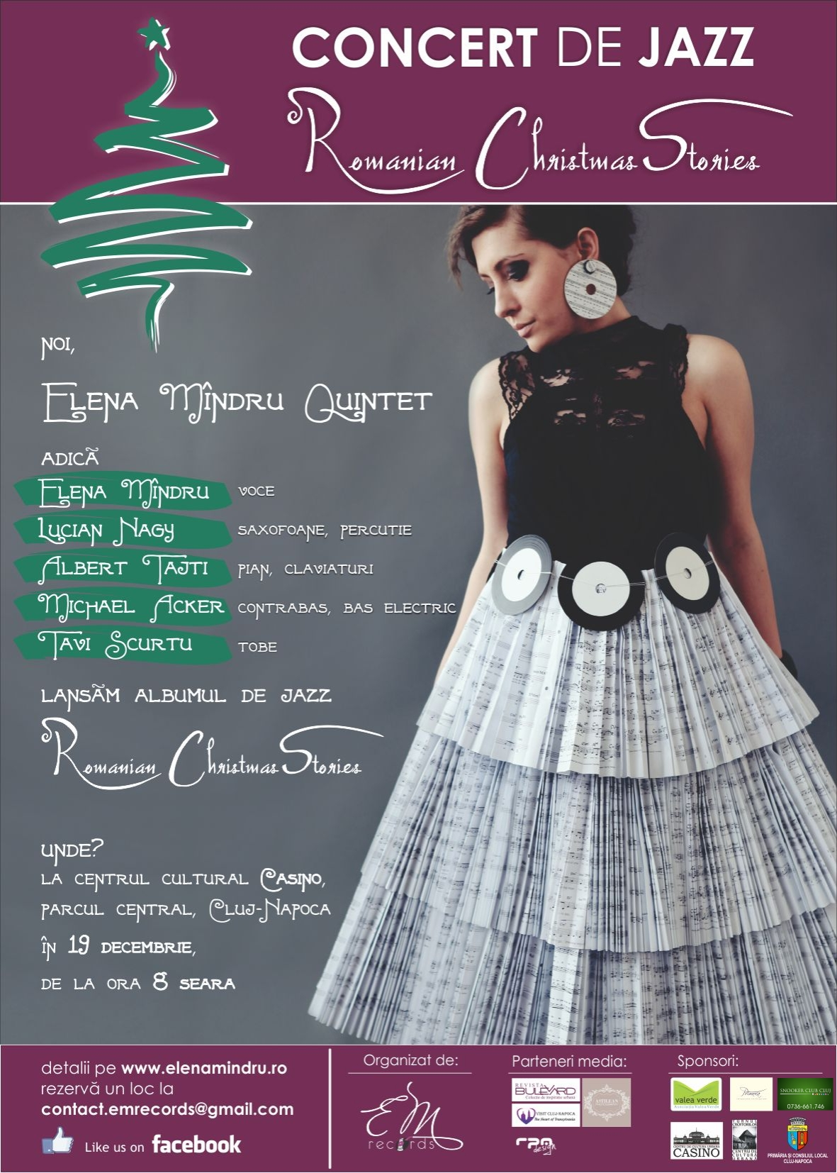 Elena Mîndru Quintet @ Clădirea Casino