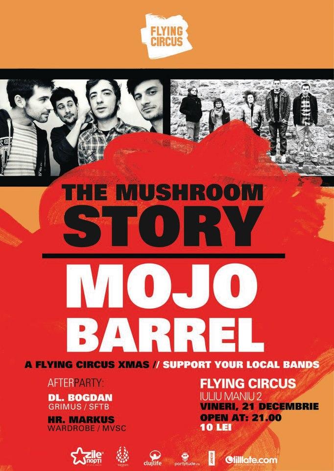 The Mushroom Story / Mojo Barrel @ Flying Circus Pub