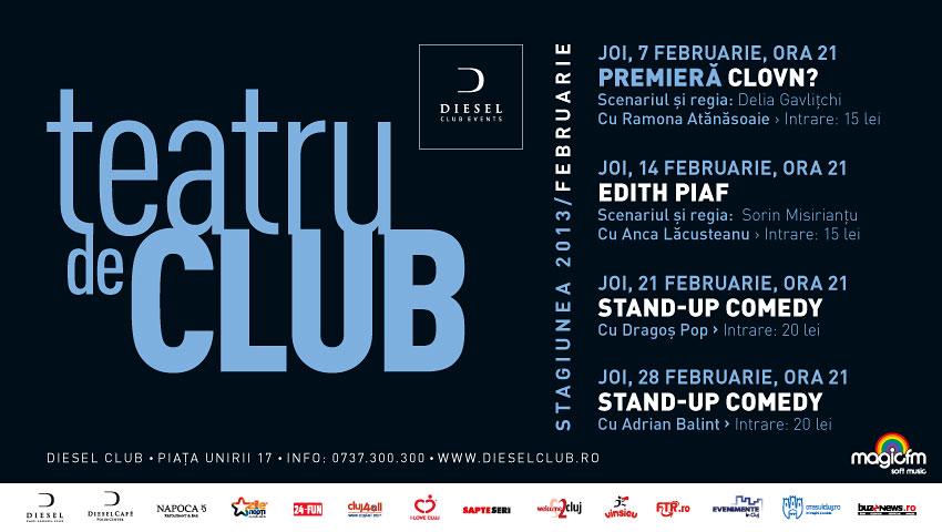 Teatru de Club – Stagiunea lunii februarie