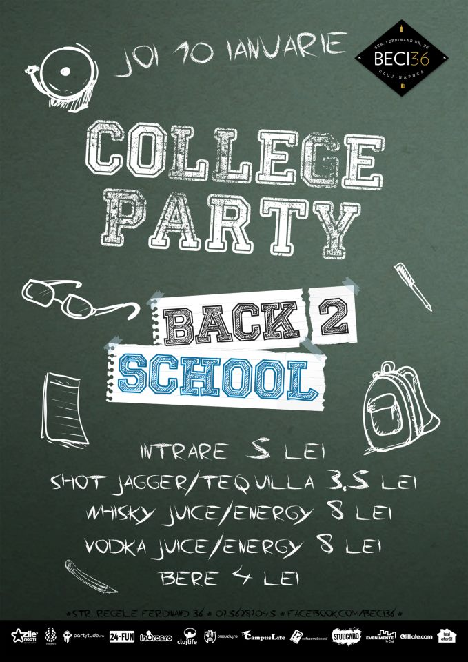 College Party – Back to school @ Beci 36