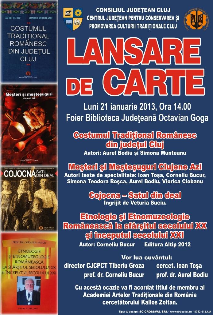 Lansare de carte @ Biblioteca Judeţeană Octavian Goga