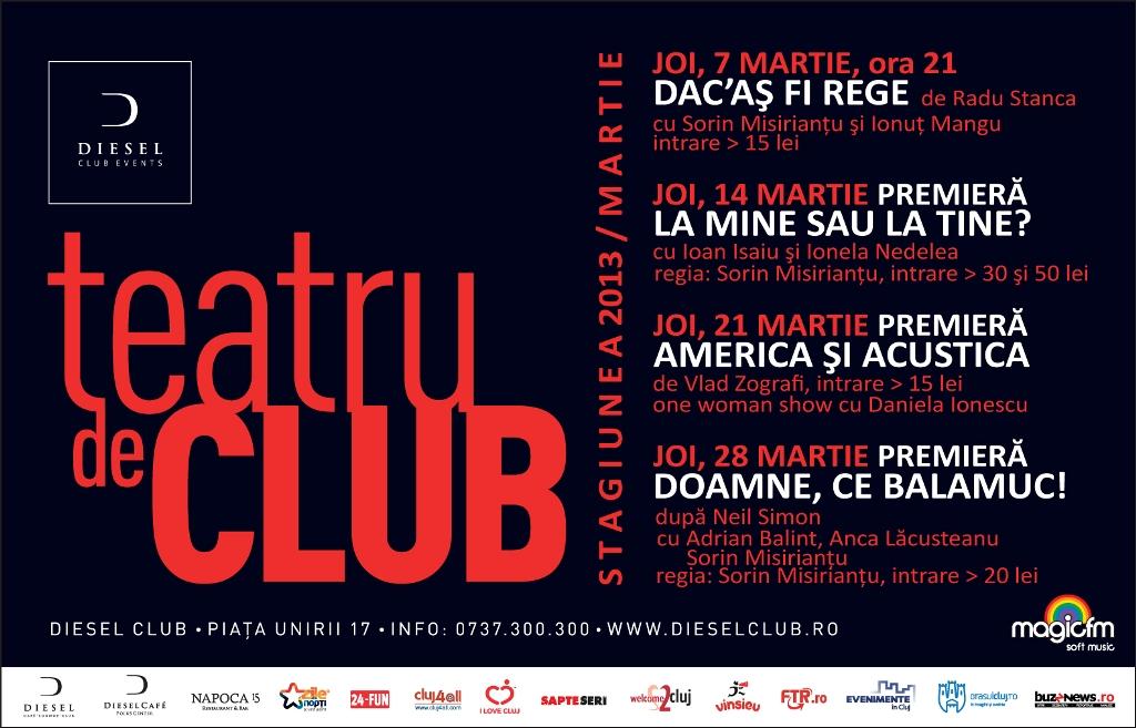 Teatru de club – stagiunea lunii martie
