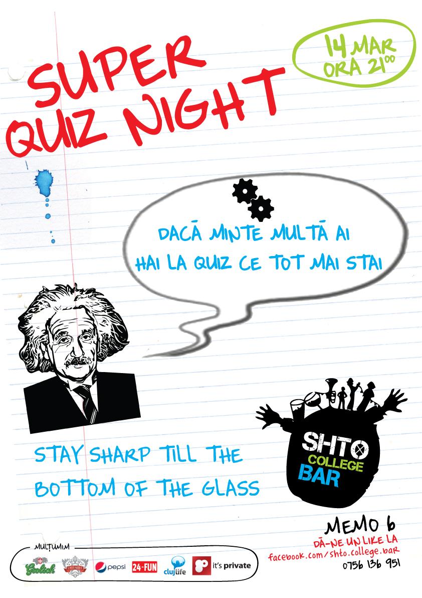 Quiz Night @ Shto College Bar
