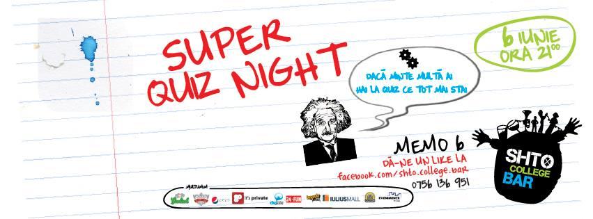 Super Quiz Night @ Shto College Bar