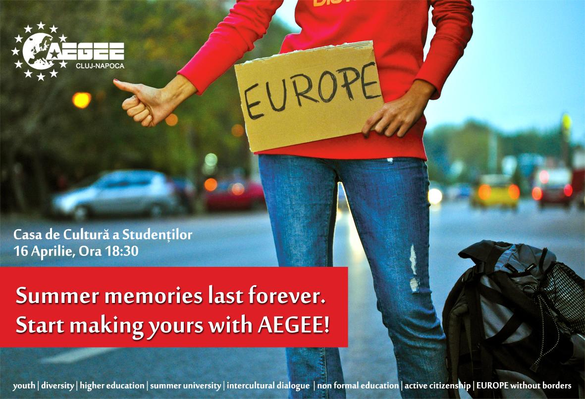 AEGEE vrea sa descoperi Europa