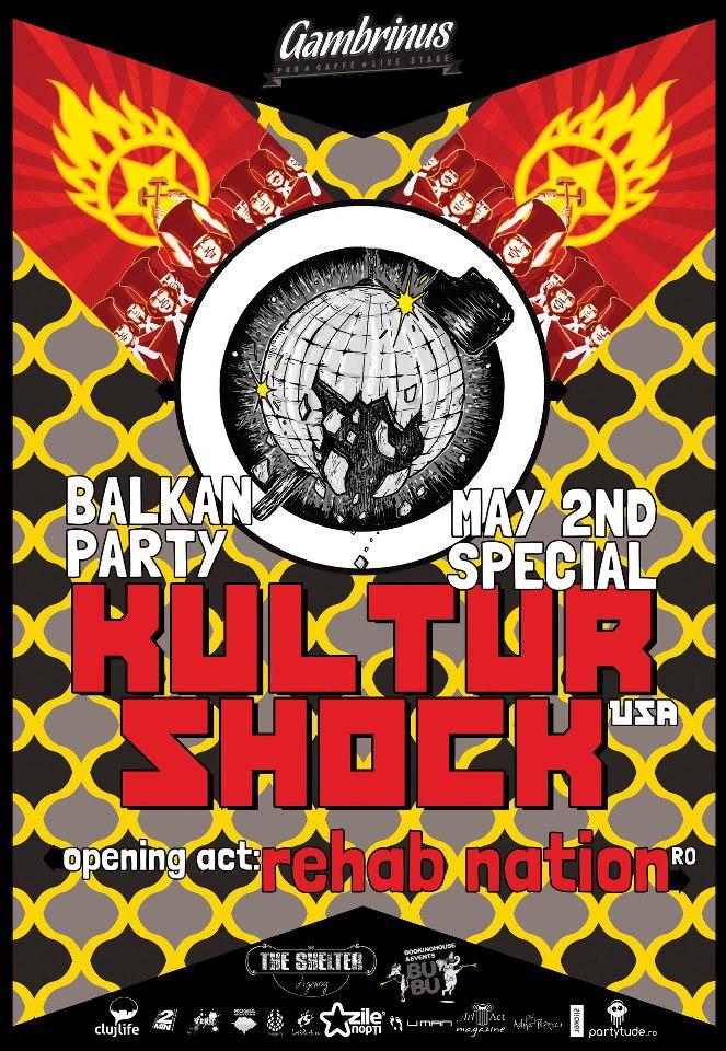 Balkan Party w/ Kultur Shock & Rehab Nation