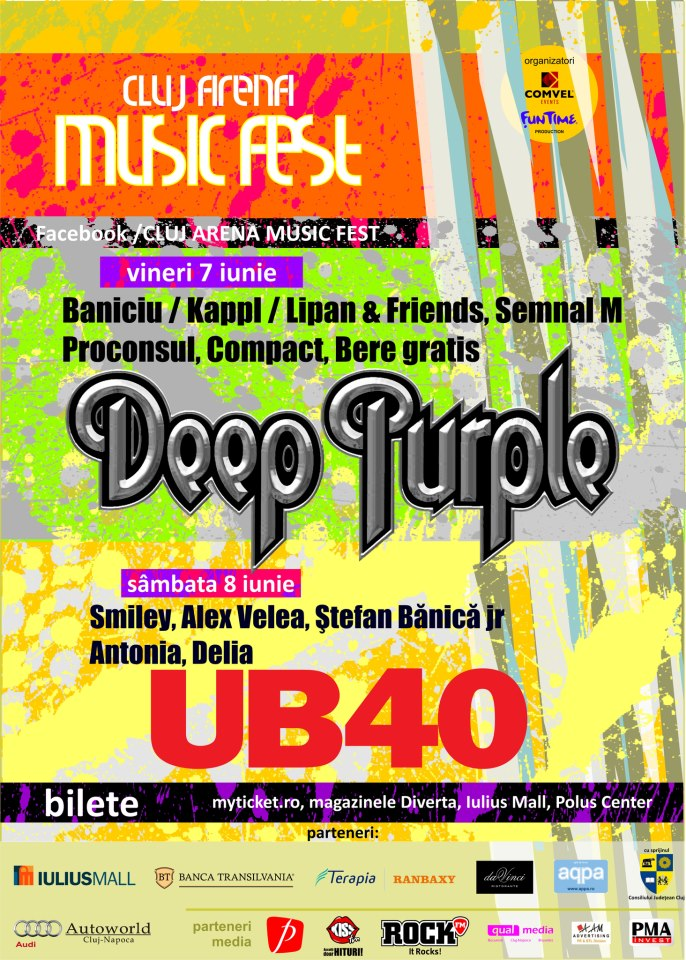 Deep Purple & UB 40 @ Cluj Arena