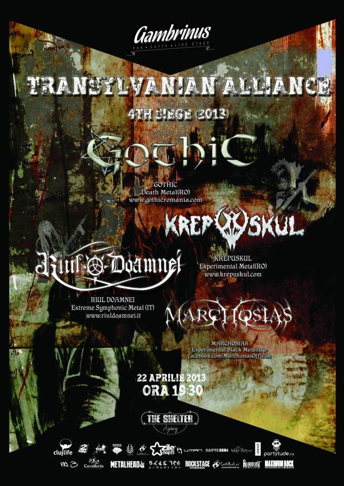 Krepuskul / Riul Doamnei / Gothic / Marchosias