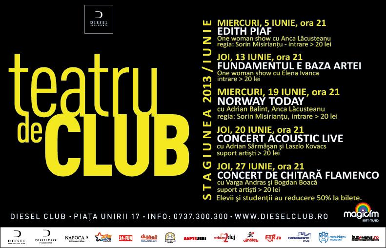 Teatru de club – stagiunea lunii iunie