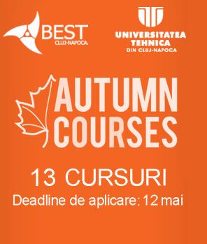 13 cursuri în 13 universități din Europa!