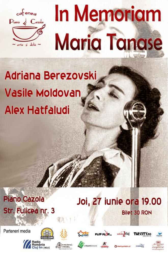 In Memoria Mariam Tanase @ Piano Cazola