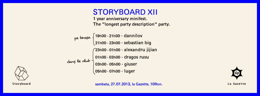 Storyboard XII – 1 year anniversary