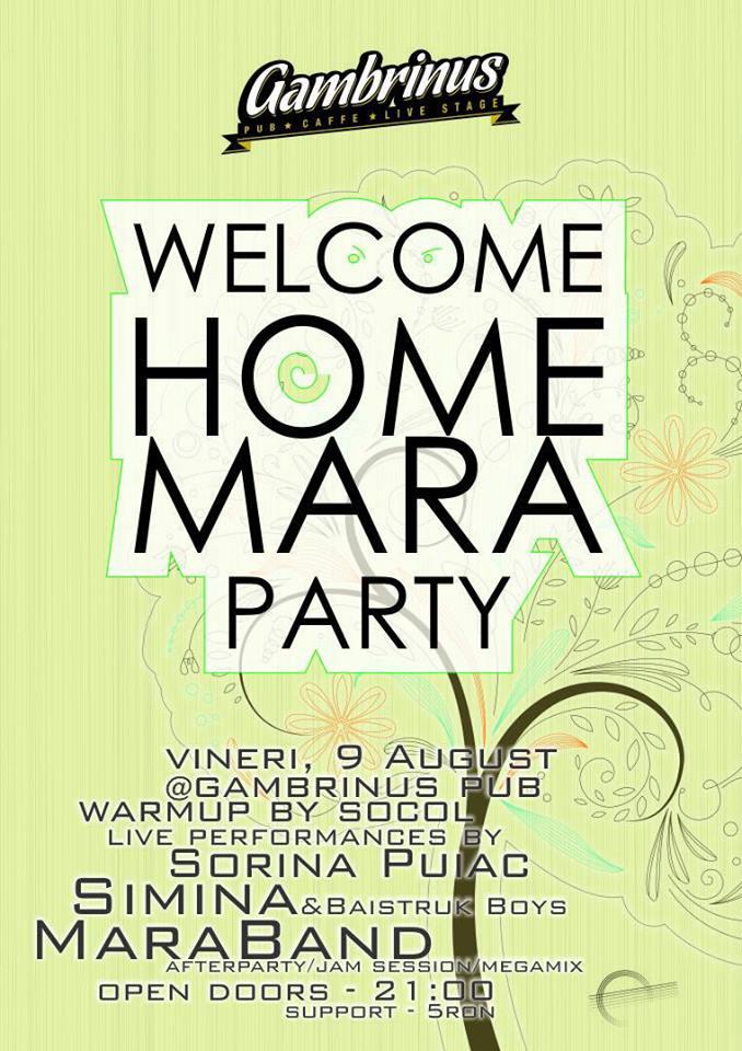 Welcome Home Mara Party @ Gambrinus Pub