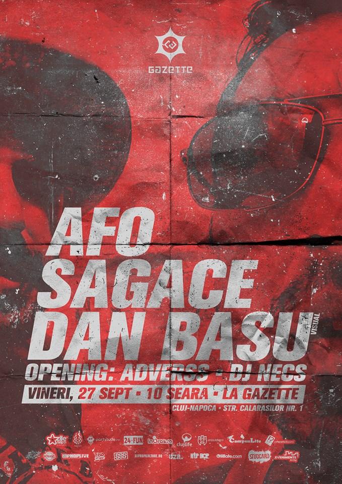 Afo / Sagace / Dan Basu @ La Gazette